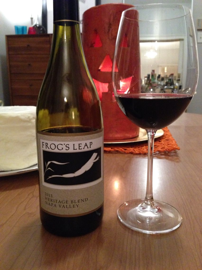 Loving This Gem From Our Napa Trip 2013 Heritage Blend From Frog S Leap Sooooo Delish Heavy Cab Vanilla Notes Awesome To Eat Wit Napa Trip Wines Wine Bottle