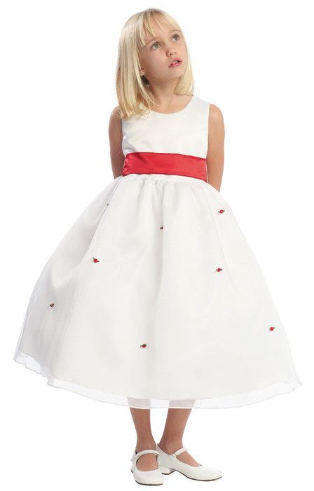White flower girl dresses with red sashflowers wedding ideas white flower girl dresses with red sashflowers mightylinksfo