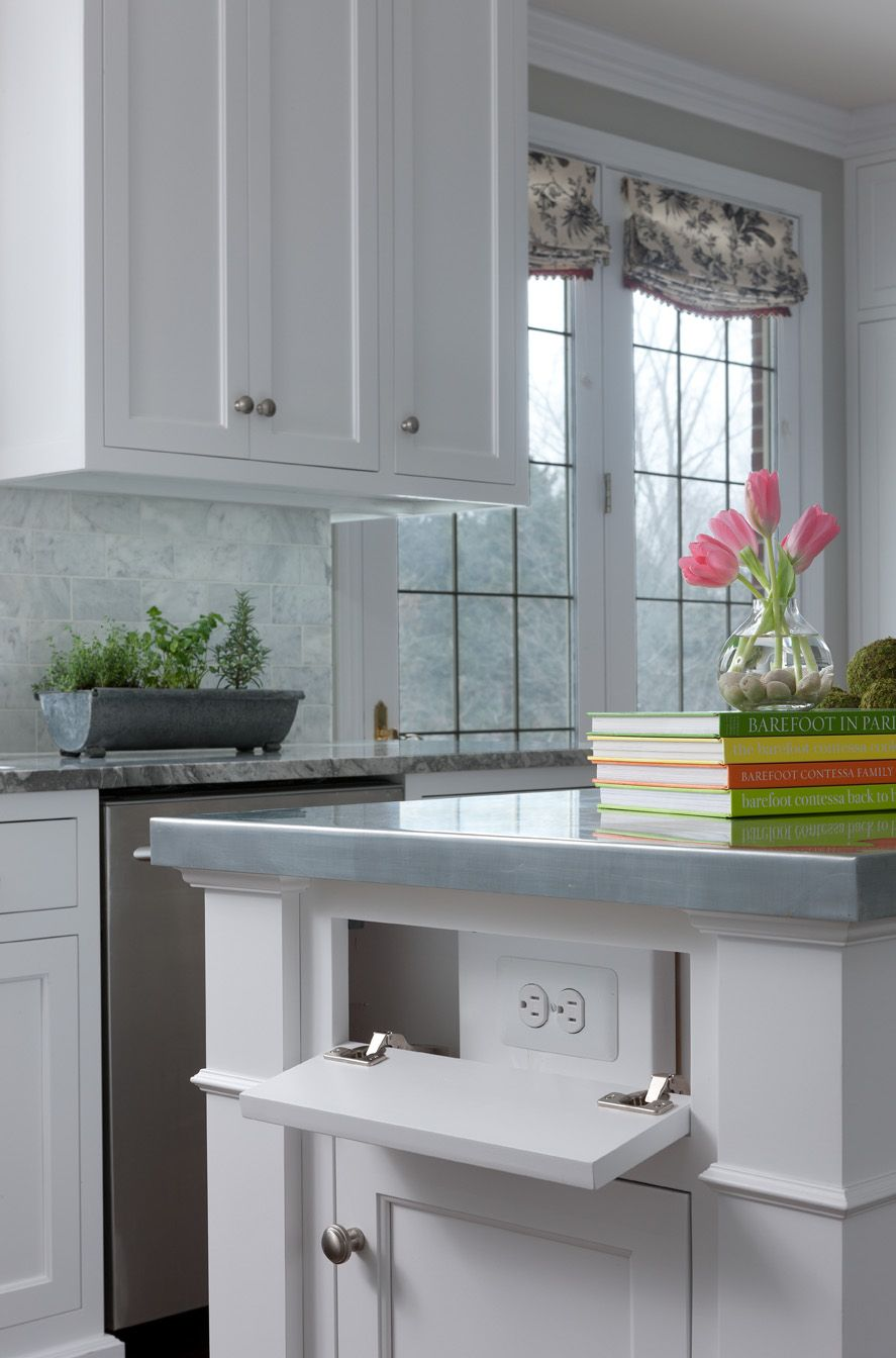Hidden outlet, Cabinets by Graber. Beth Singer hoto. (With ...