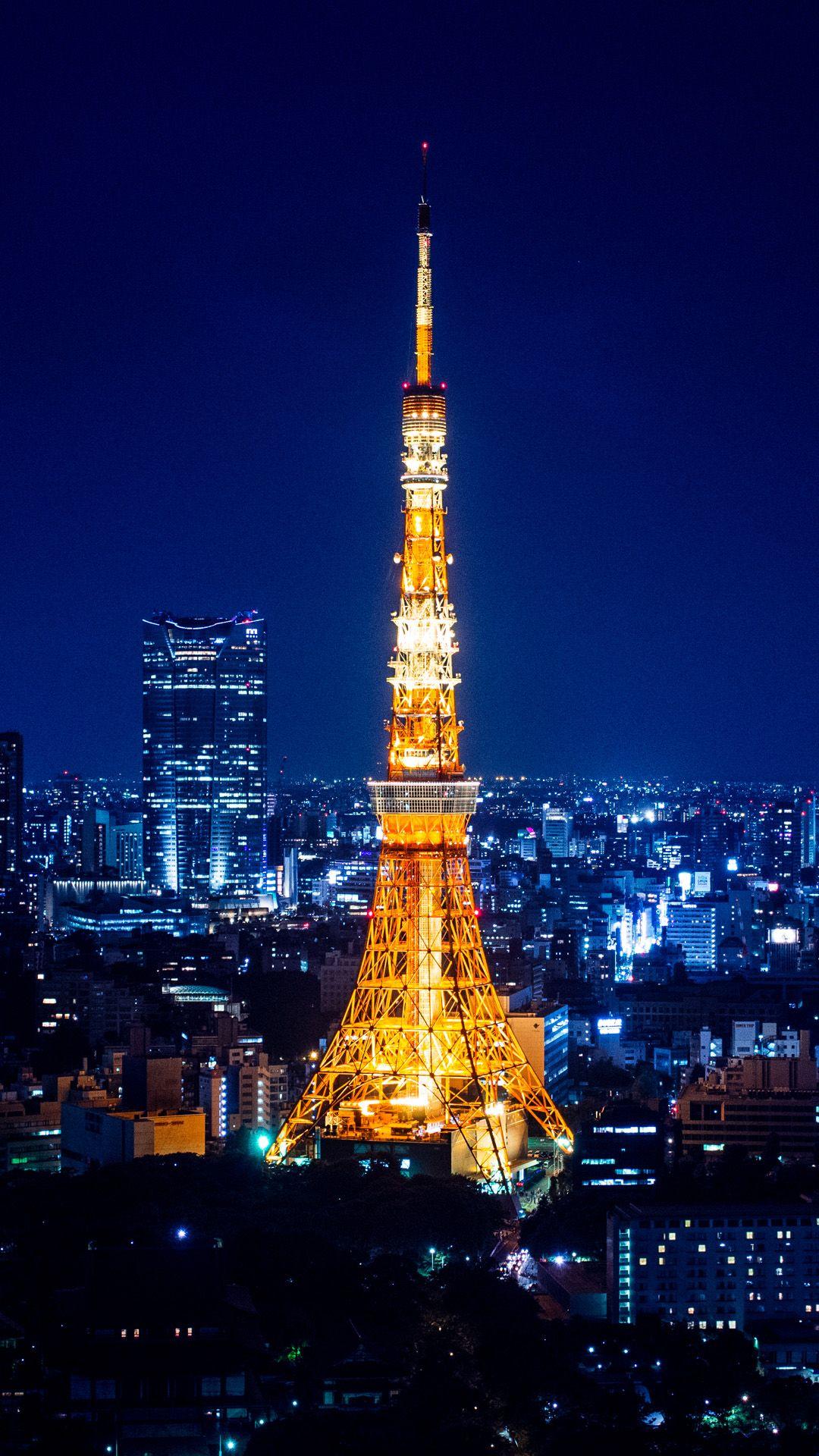 Tower Yokohama Night iphone 6 plus wallpaper iPhone 6