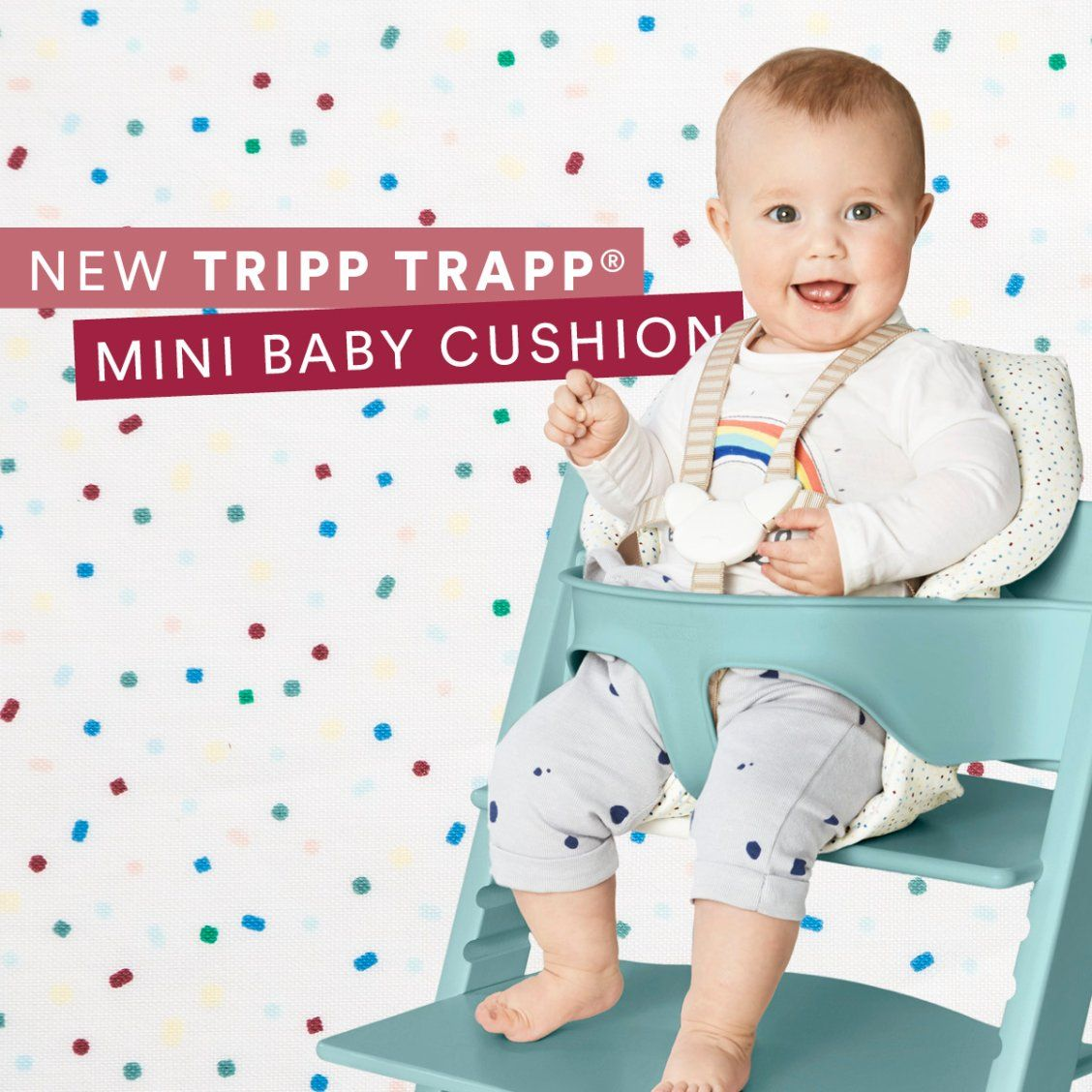 Tripp Trapp Mini Baby Cushion Soft Sprinkle Designed To Be Closer