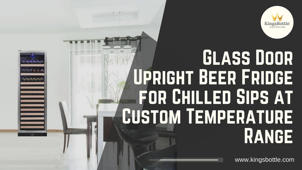 Upright Wine Cooler Fridge With Glass Door Display Shelves Kbu170w