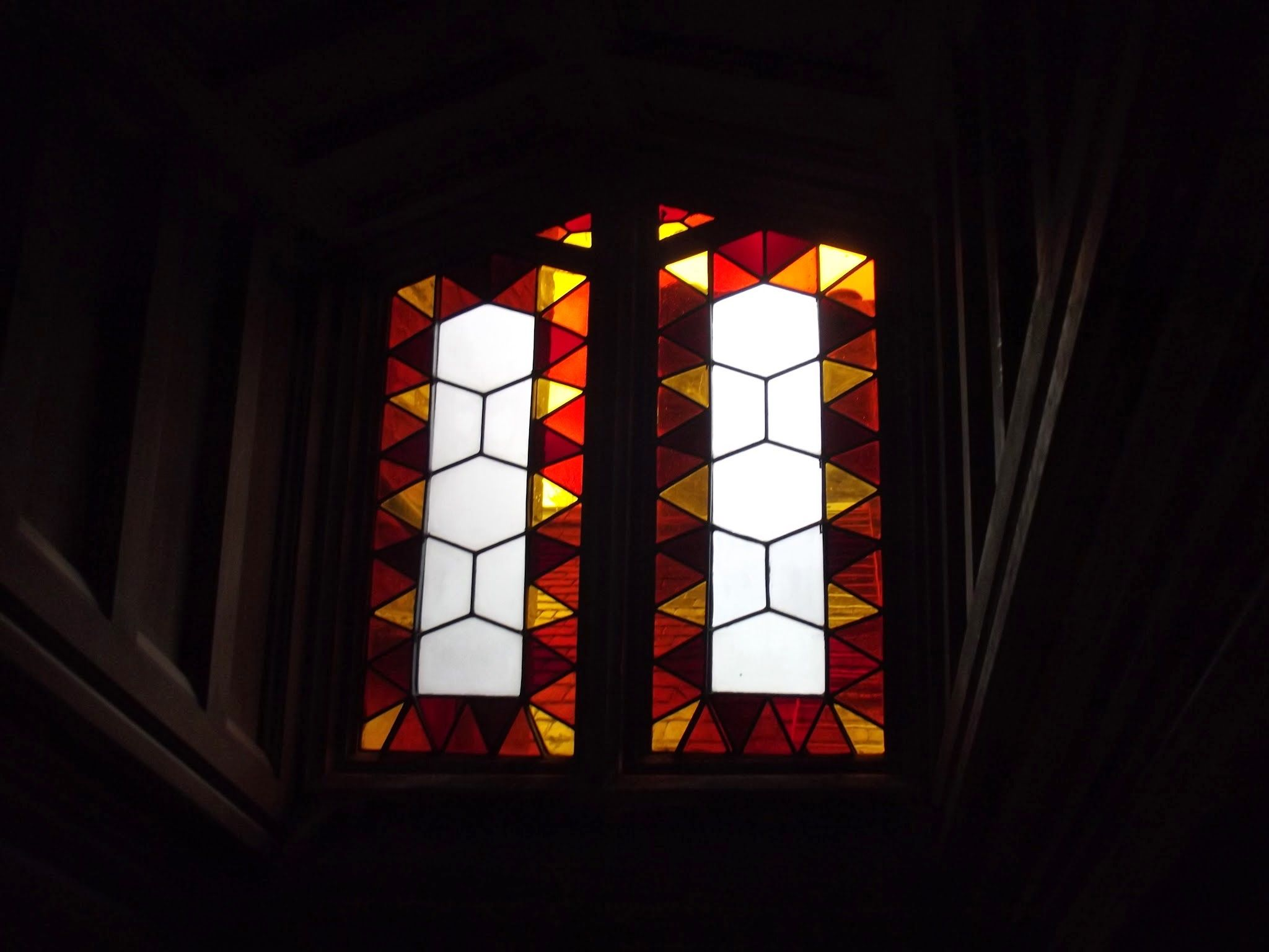 stained glass at wray castle ba6 patterns from nature pinterest