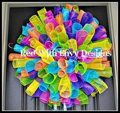 Birthday Birthday Wreath Birthday Decor by RedWithEnvyDesigns, $75.00