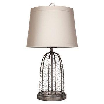 Baiter Table Lamp Gray Wire Beekman 1802 Farmhouse