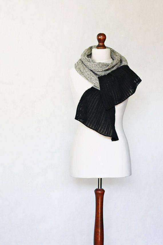 White shawl knit scarf linen shawl knit shawl by KnitwearFactory, $71.00