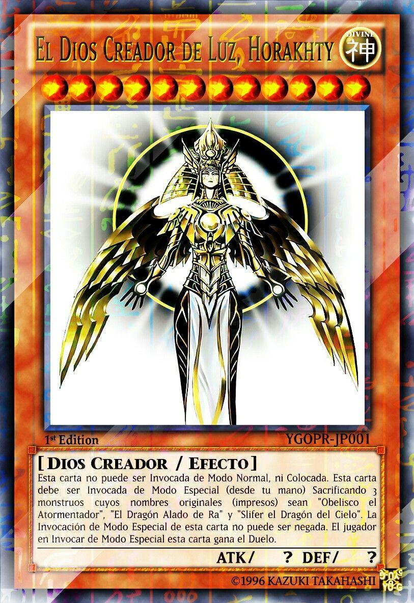 El dios creador de luz horakhty yugioh cards paper