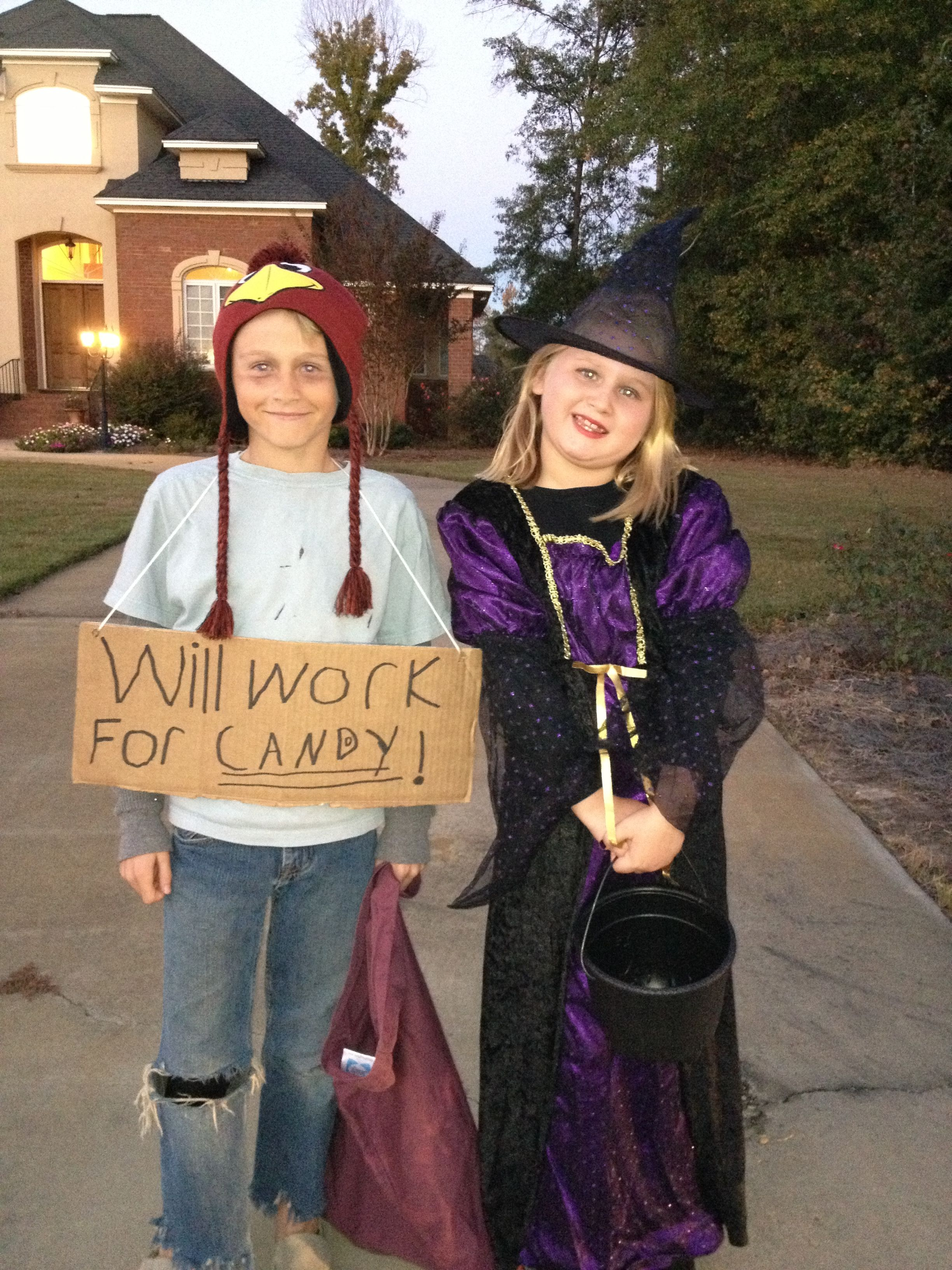 Homeless Kid And Witch Costumes Make It Yourself Witch Costumes Costumes Homeless Children