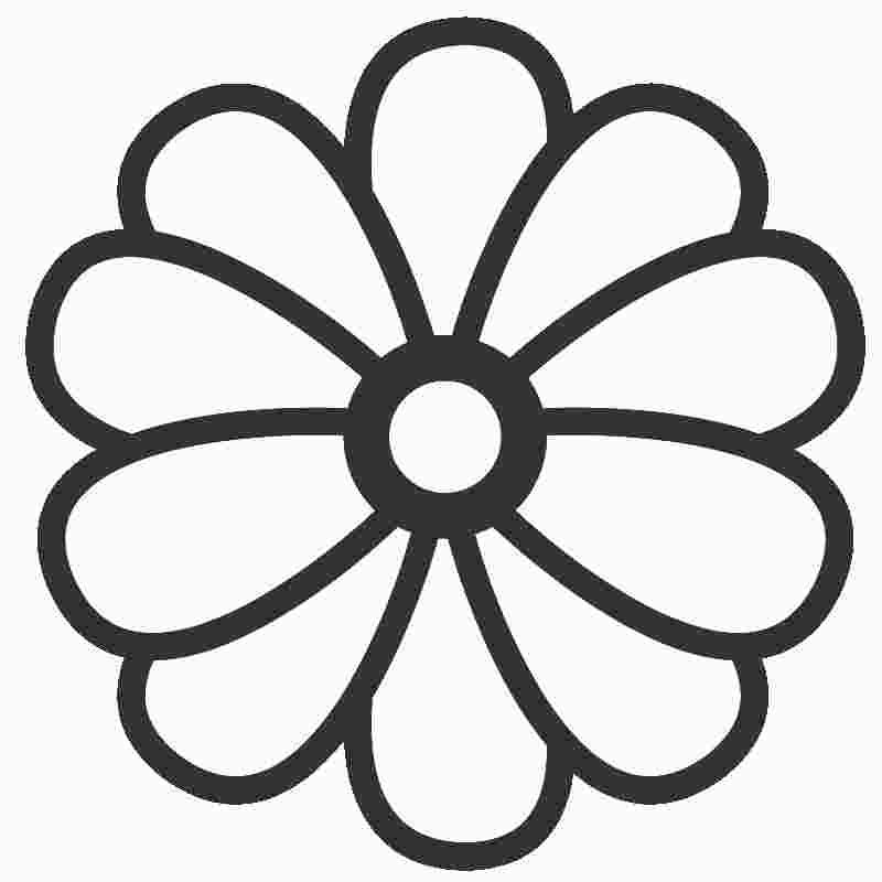 Large Flower Coloring Pages Printable Flower Coloring Pages
