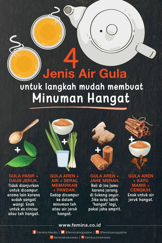 4 Jenis Air Gula Untuk Minuman Hangat Food Combining Resep Resep Minuman