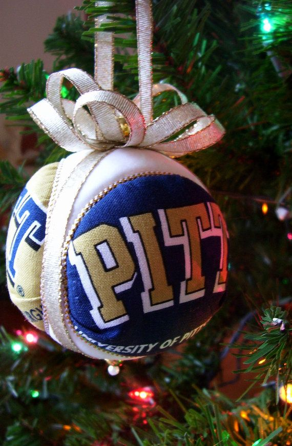 University of Pittsburgh Christmas Ornament by OrnamentDesigns ...