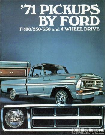 1971 Ford Truck F Series Sales Brochure Classic Ford Trucks