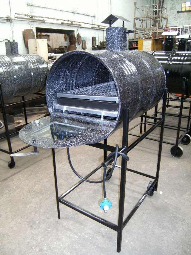 Hornos de tambor 200litros a gas envasado y de red for Como hacer una puerta de tambor