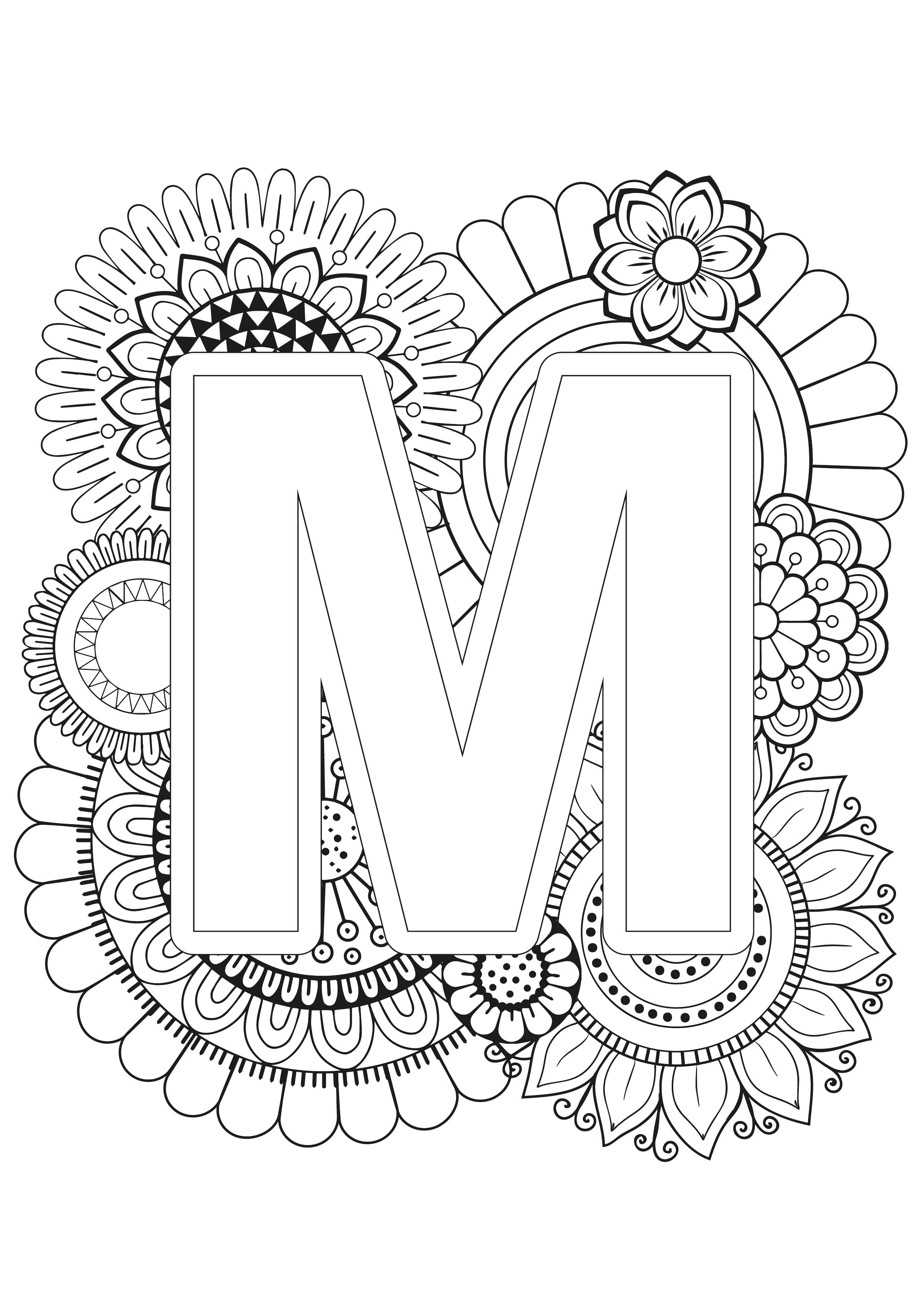 Mindfulness Coloring Page Alphabet Coloring Letters Alphabet Coloring Pages Printable Coloring Pages