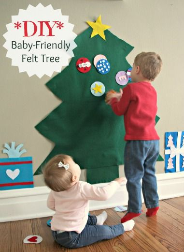 DIY Felt Christmas Tree - great for toddlers-from and article our