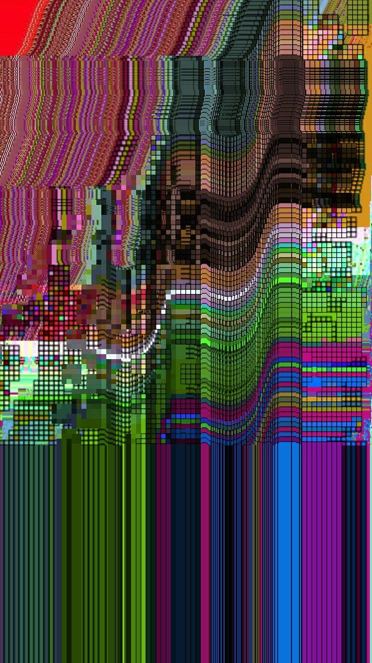 This gif has everything glitch pixel art graphic design vaporwave - Glitch Art Glitchart Kseniyalozovsky