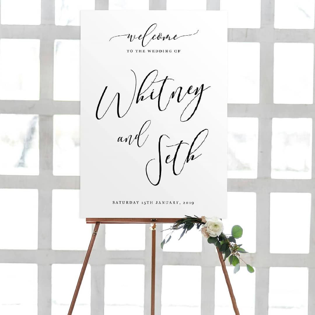 Wedding decorations ideas at home january 2019 Minimalist Wedding Signage Sticker on Sintra board We also have