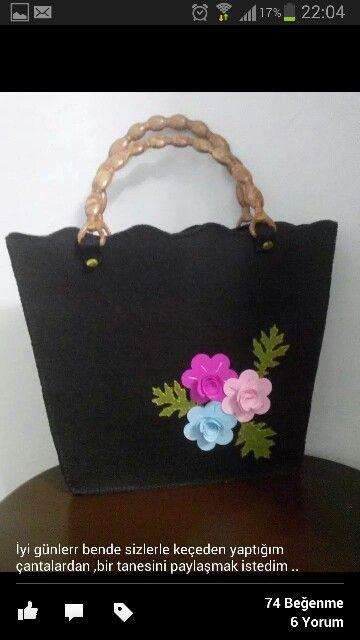 0cf0ee12246a8 Keçeden çanta | çanta ve kılıflar | El çantaları, Keçe elişi, Cüzdanlar