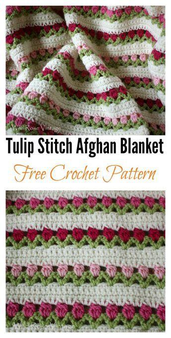 Crochet Tulip with Free Pattern | Pinterest | Häkeln, Decken und ...