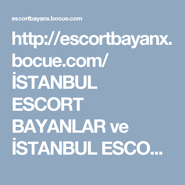 Escorts In Istanbul