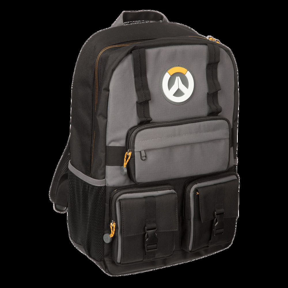 Grey New!!! Overwatch MVP Laptop Backpack Bag Black