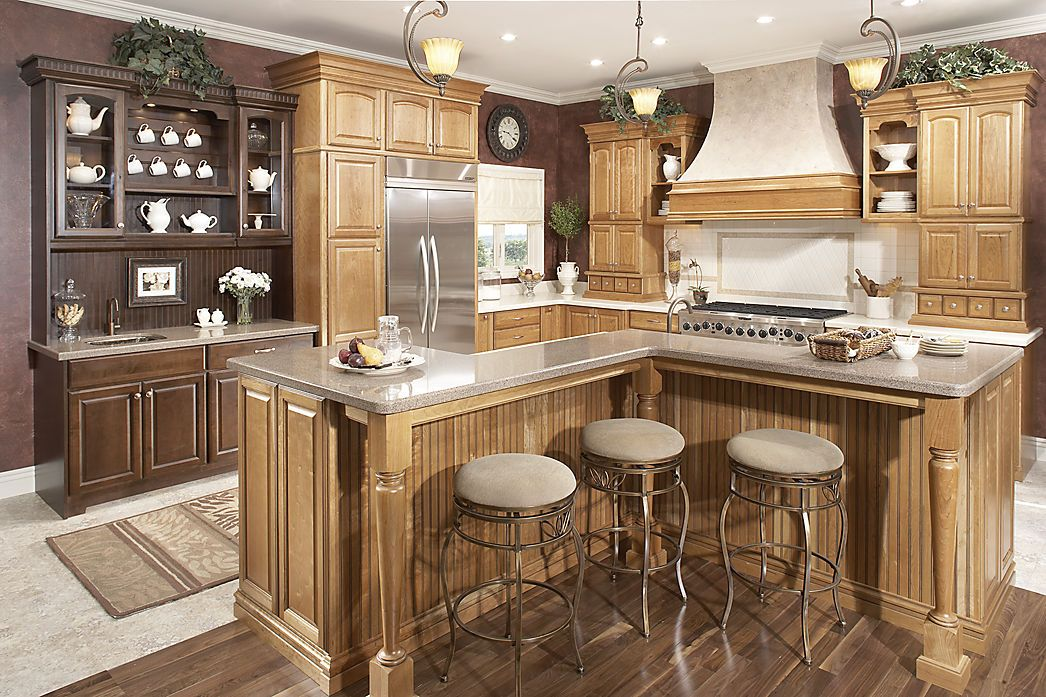 Best Medallion Cabinetry I Wonder How An L Shaped Island Would 400 x 300