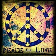 __[Peace sign Art by Kathy Nail] #HippieStuff #smiley
