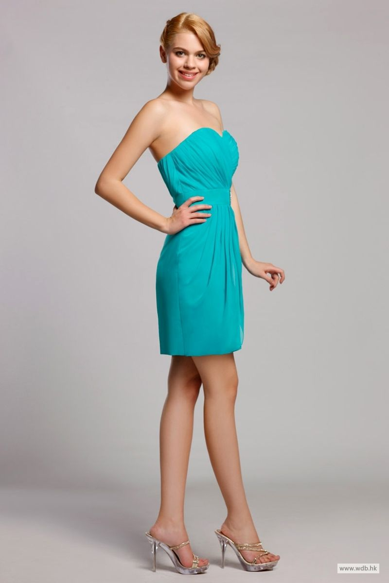 bridesmaid dresses Graceful Strapless Sweetheart Short Sheath ...