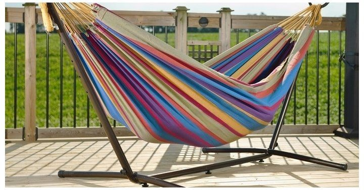 double hammock with stand  99 99 shipped   costco http   www lavahotdeals  double hammock with stand  99 99 shipped   costco http   www      rh   pinterest