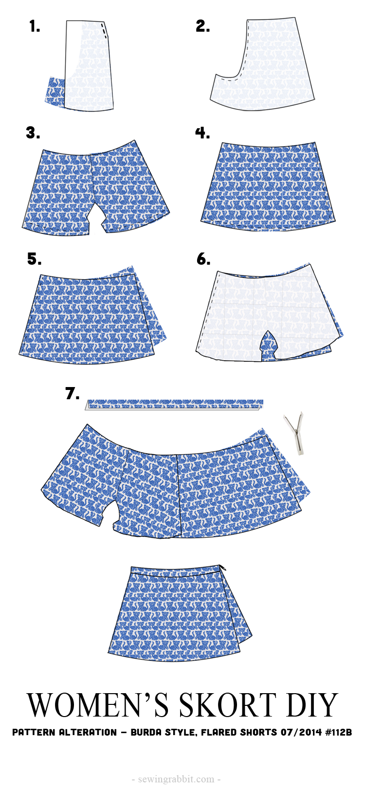 Women's Skort DIY – The Sewing Rabbit