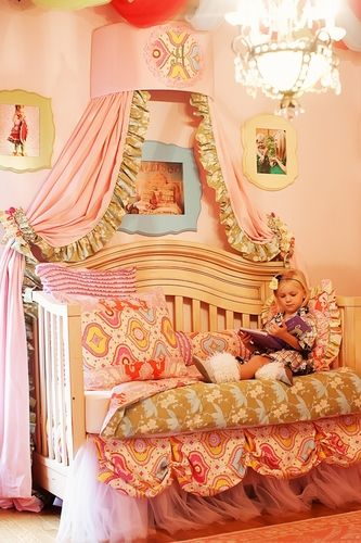 Maddy's style...she would love this!  In a big girl sized bed, of course!