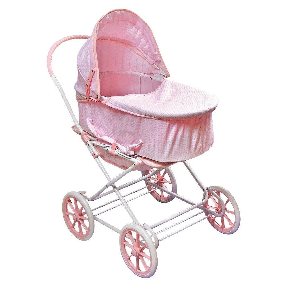 Double Pram Target Badger Basket 3 In 1 Doll Carrier Stroller Pink Gingham
