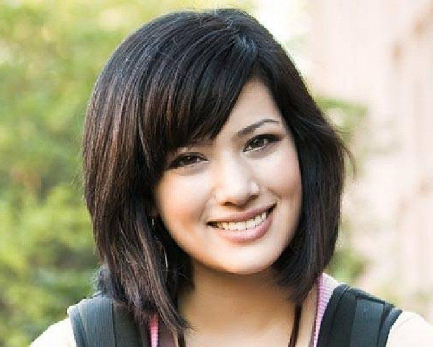 Awesome And Nice Style With Short Hairstyles For Round Faces And - Hairstyle for round face asian girl