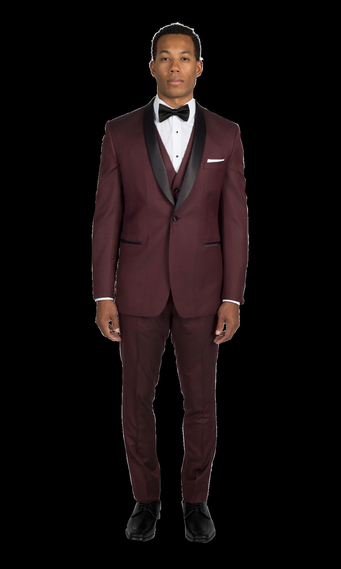 Burgundy Shawl Lapel Ike Behar Tuxedo Tuxedo, Ike behar