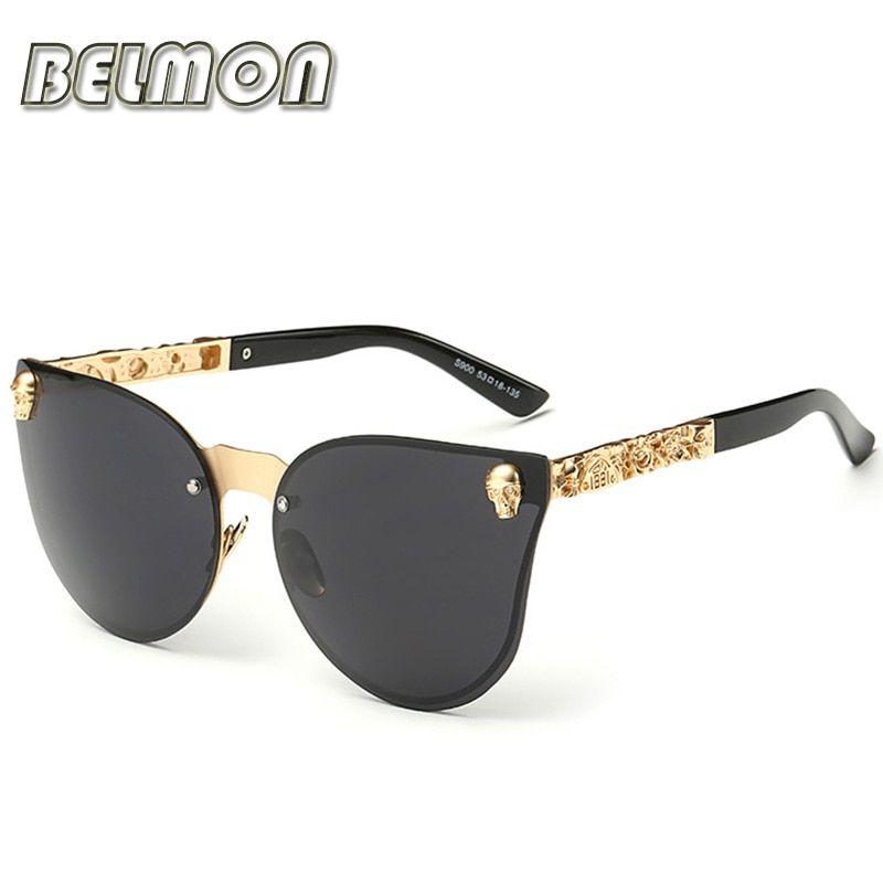 07d6c06b1bb Fashion Luxury Sunglasses Women Brand Designer Skull Sun Glasses For Ladies  Retro UV400 Anti-Reflective Female Oculos RS082