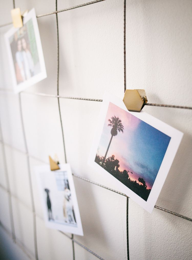 DIY WALL WIRE GRID PHOTO DISPLAY + VDAY RECAP  PIXELS & PLAYBOOKS