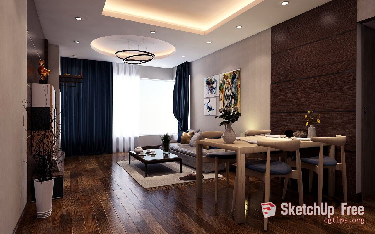 899 Interior Livingroom Sketchup Model By Duc Long Free Download