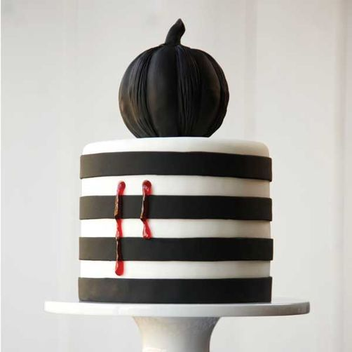 Pumpkin Shadows Halloween Cake So chic and festive!!! #Halloween - halloween decorated cakes