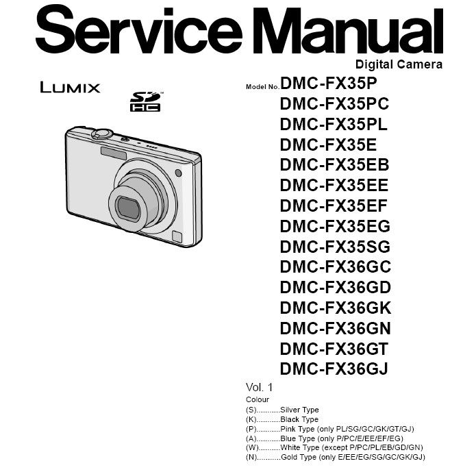 Panasonic Lumix DMC FX35 FX36 Digital Camera Service
