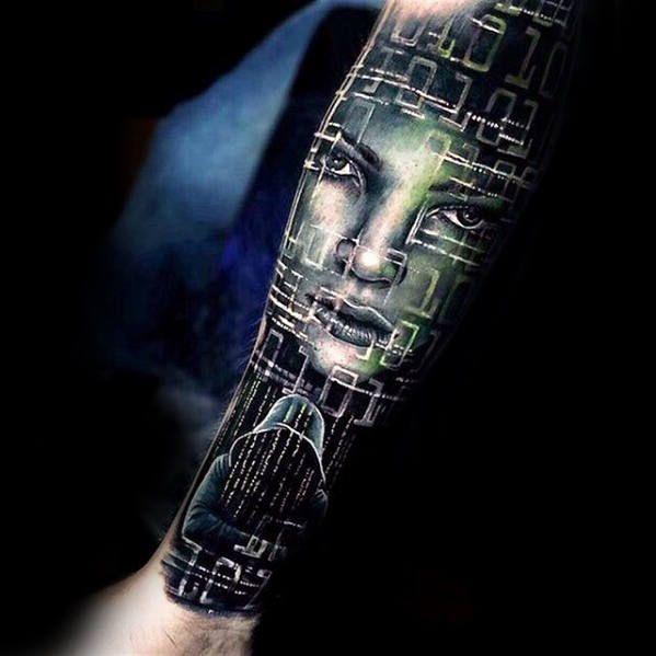 Image Result For Matrix Tattoo 组合女 Tattoos Männer Große