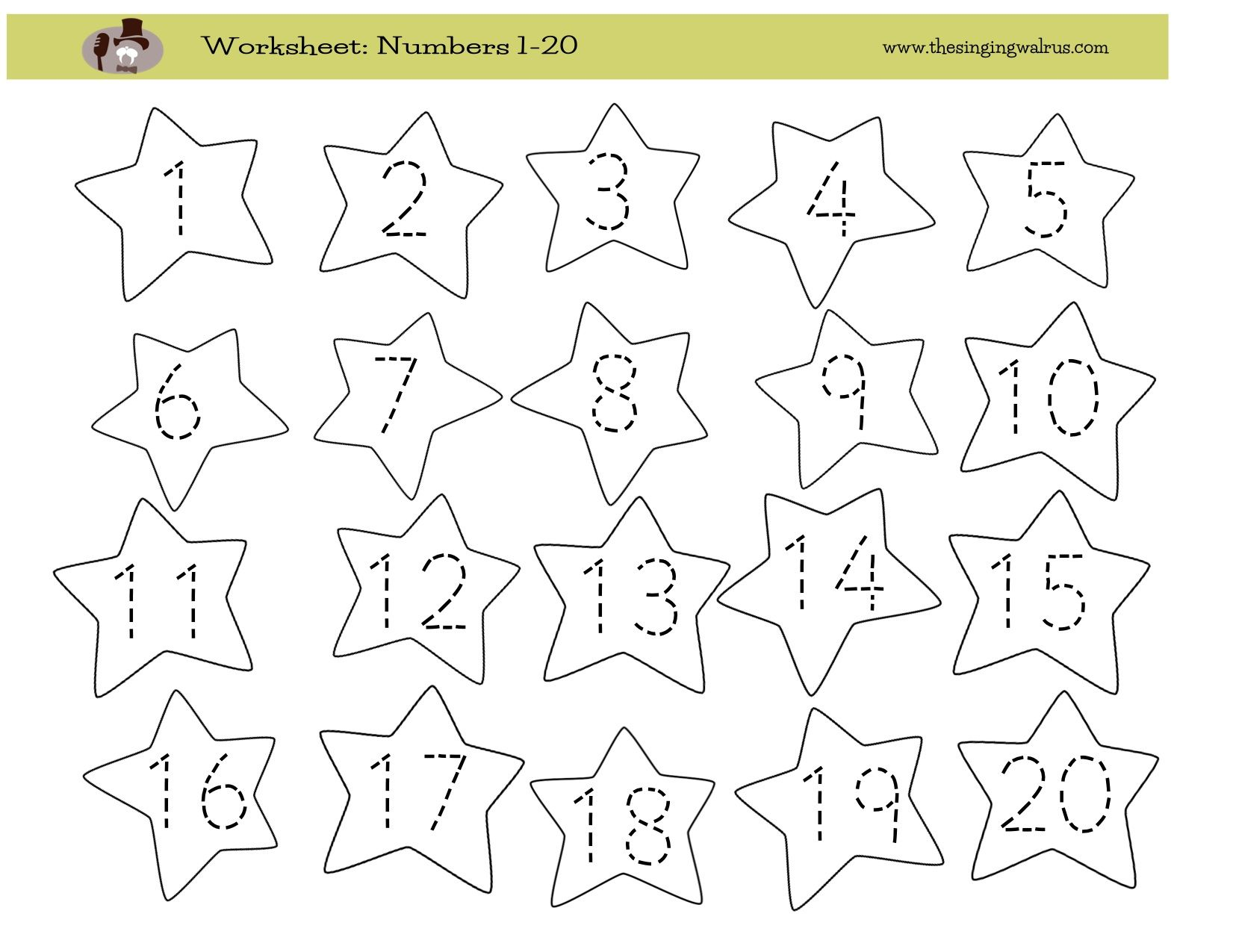 worksheet Worksheet Numbers 1 20 worksheet writing numbers 1 20 jpg prek pinterest jpg