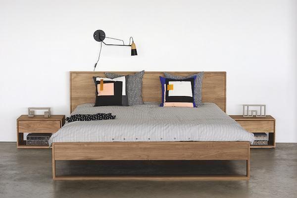 Ethnicraft Online Com Sg Nordic Ii Bed Sg Queen 152 X 190 Cm Mattress Size Set Da Bagno Set Camera Da Letto Idee Letto