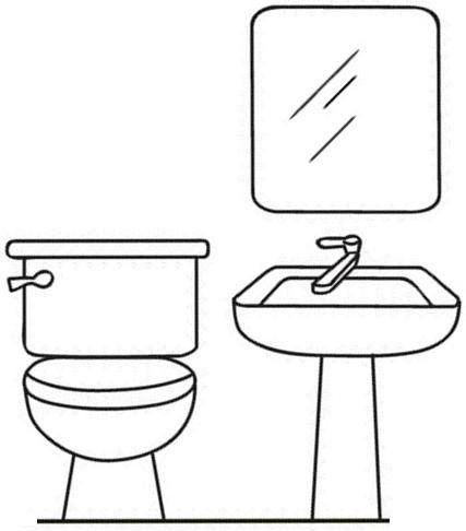 Banyo Malzemeleri Boyama Sayfası Okulöncesi Quiet Book Templates