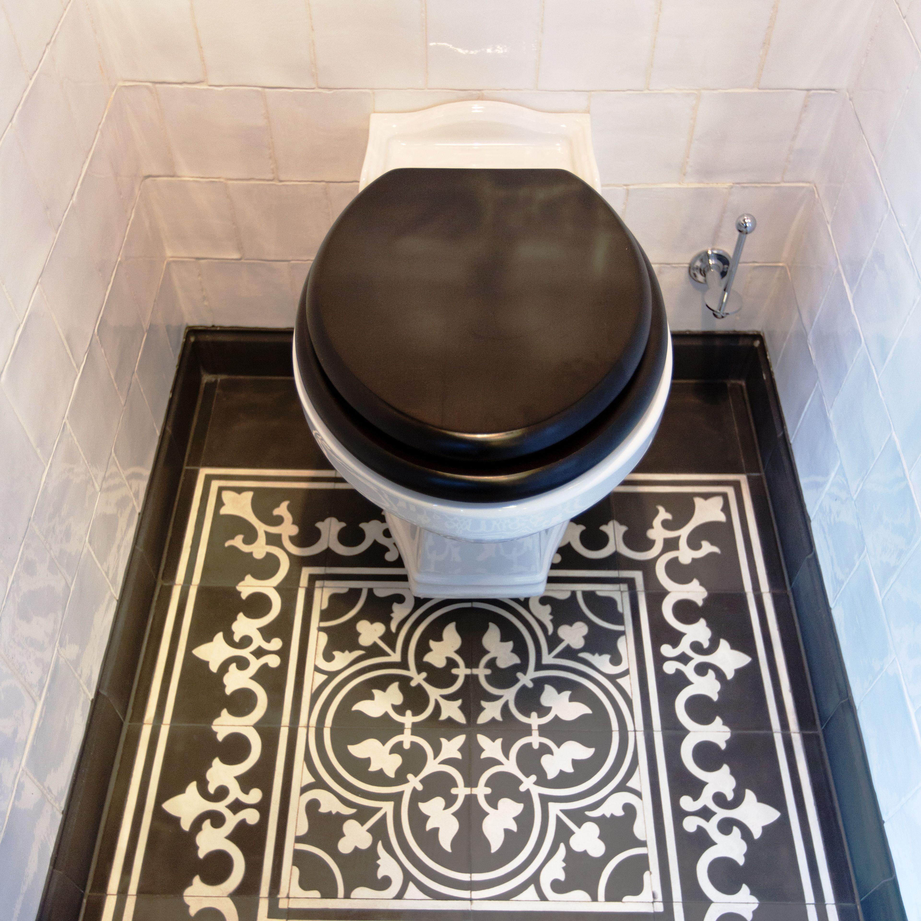 leef je uit op het toilet tegels van toen toilet badkamer