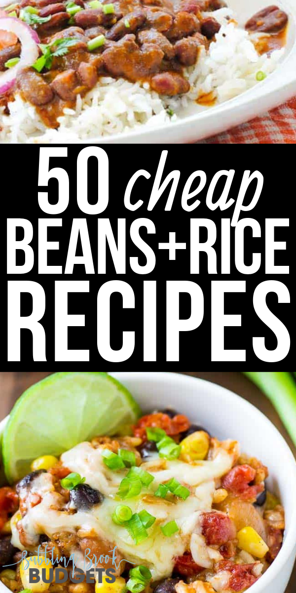 50 Cheap Easy Beans And Rice Recipes Your Family Will Love Cheap Dinners Cheap Healthy Meals Budget Dinner Recipes