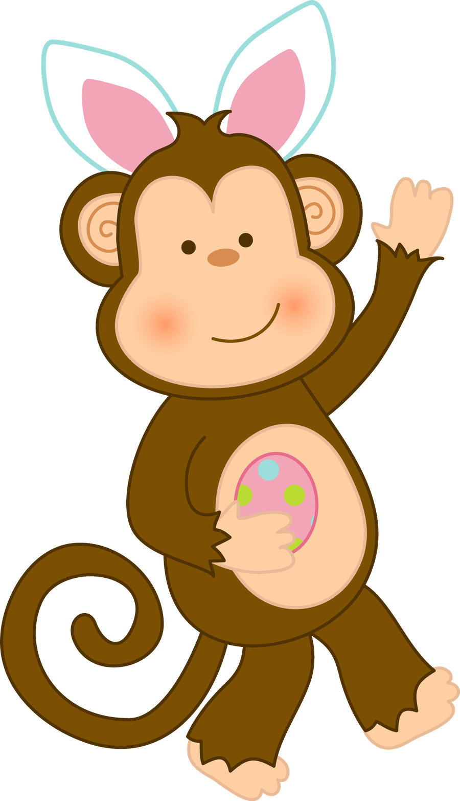Minus Say Hello Jungle Animals Animal Clipart Holiday Clipart