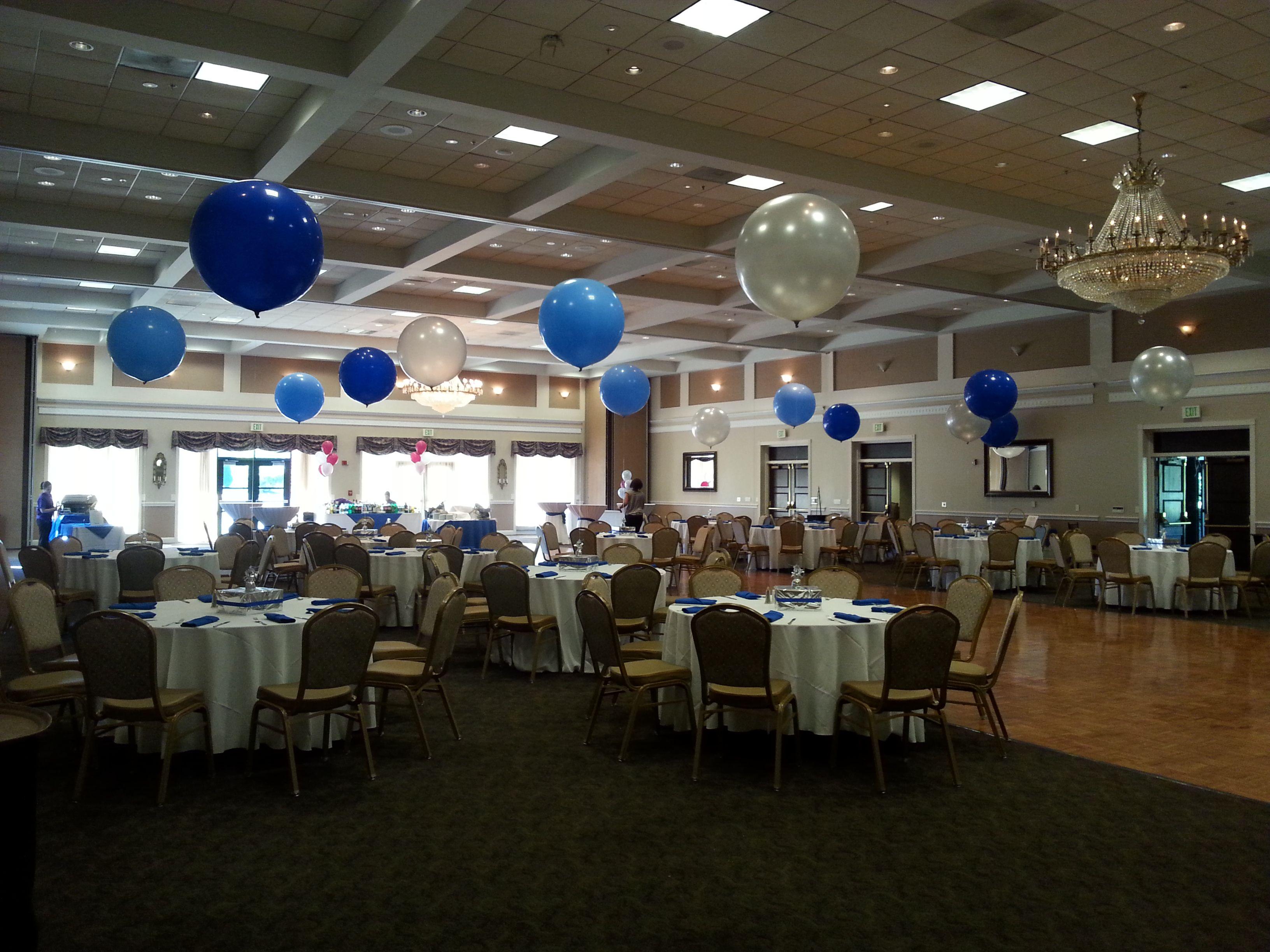3 balloon centerpieces ten oaks ballroom clarksville maryland