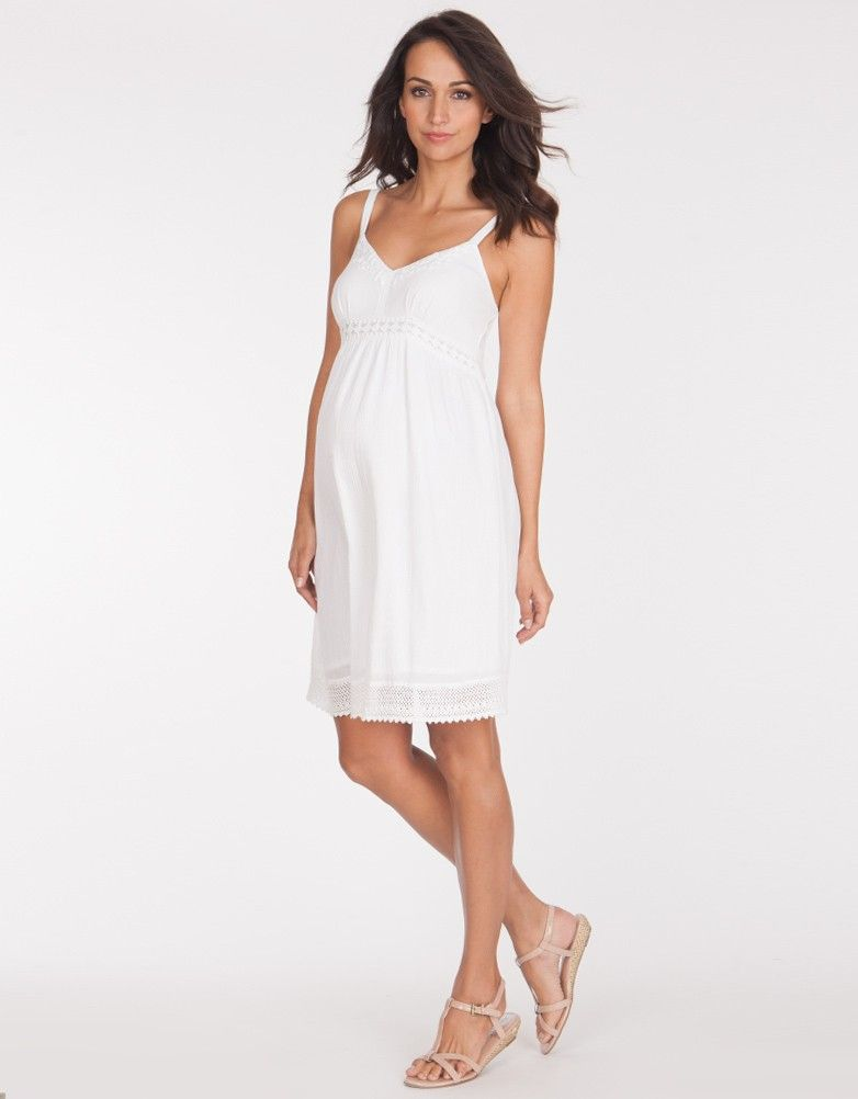 d877f30a2915a White Textured Cotton Maternity Dress | Seraphine Maternity ...