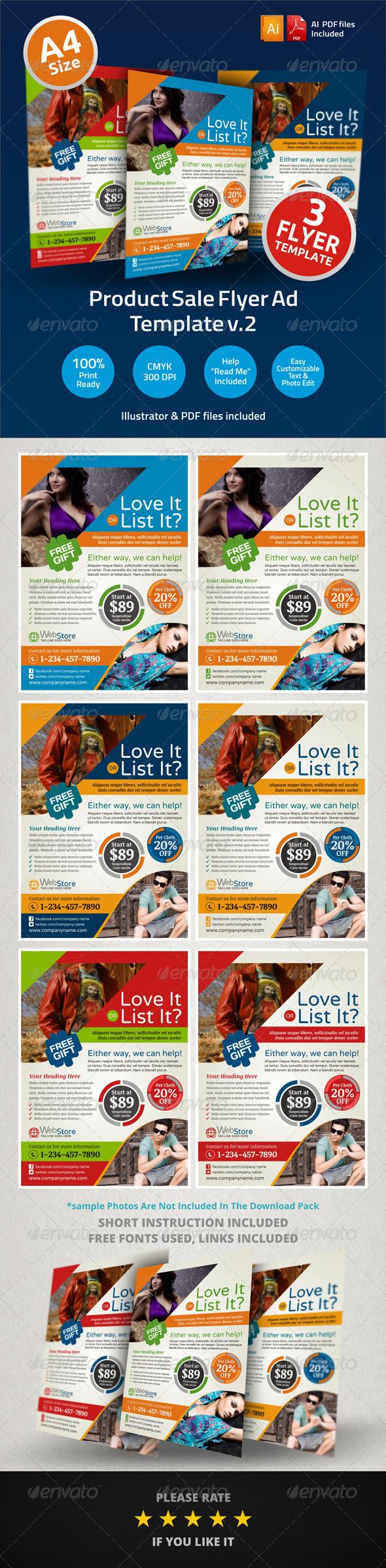 Product Sale Promotion Flyer Ad Design V Pinterest Sale Flyer - Product ad template