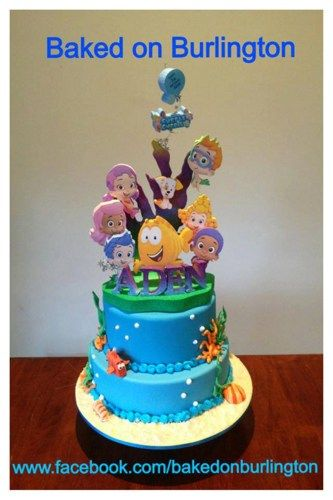 Groovy Bubble Guppies Birthday Cake Topper Bubble Guppies Birthday Cake Personalised Birthday Cards Veneteletsinfo